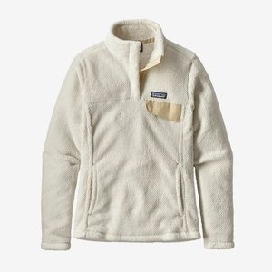 Patagonia Raw Linen White Snap-T Re-Tool Pullover